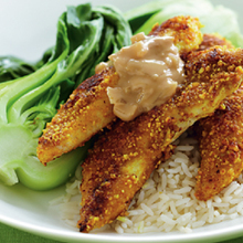Peanut crusted chicken