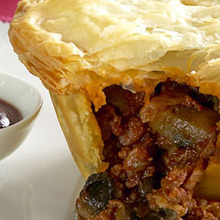 Beef red wine and mushroom pies