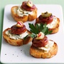 Chorizo blue cheese toasts