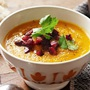 Carrot chorizo soup