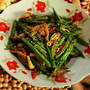 Green beans with oyster mushrooms